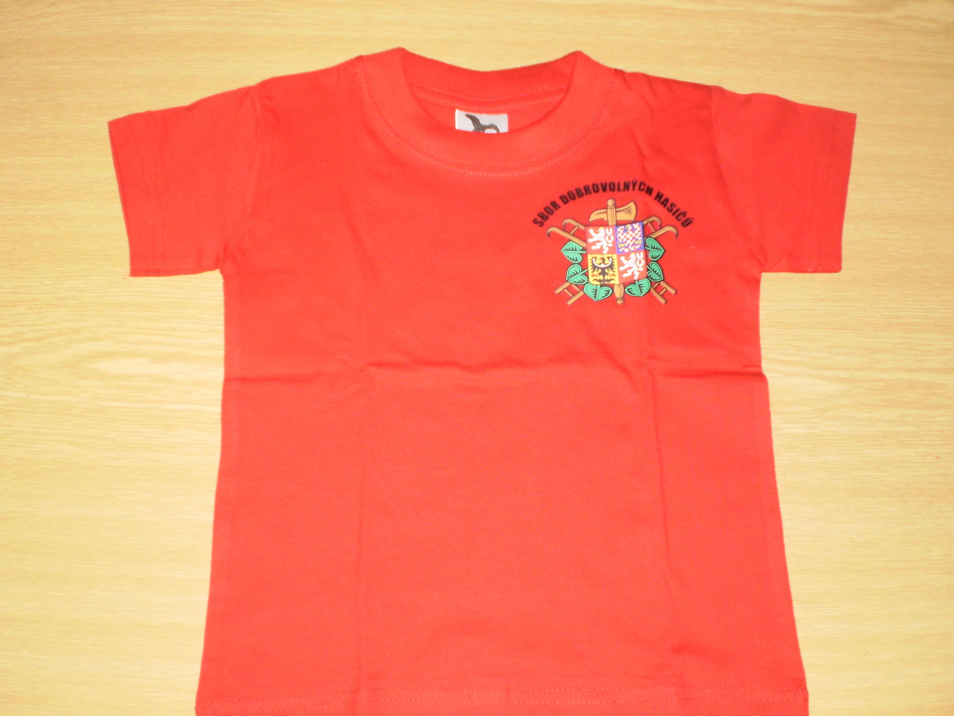 8c0810d7f40 Dětské tričko se znakem SDH a nápisem HASIČI
